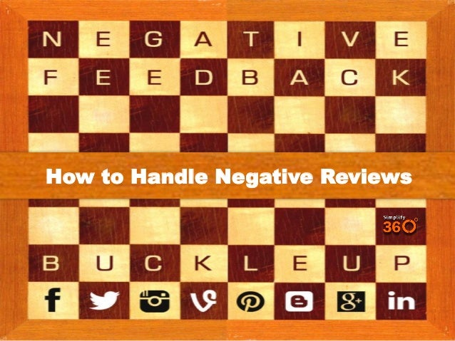 How To Handle Negative Reviews On Social Media