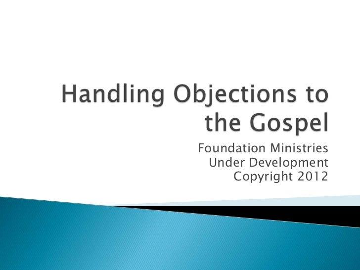Foundation Ministries  Under Development     Copyright 2012