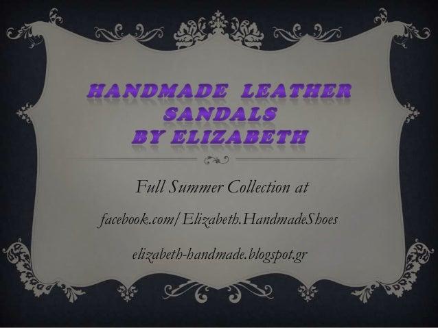 Χειροποίητα Σανδάλια|Handmade Sandals by Elizabeth