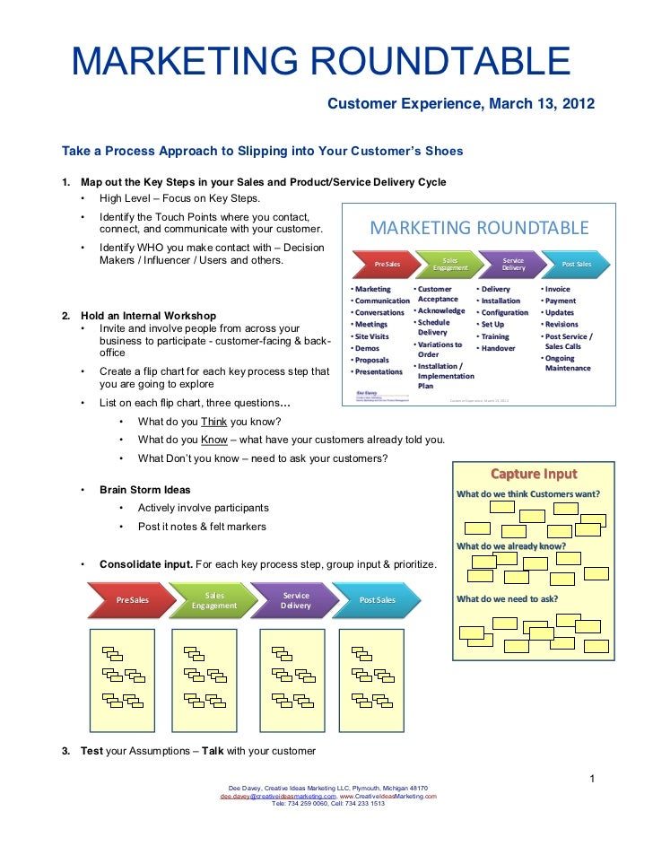 MARKETING ROUNDTABLE                                                                    Customer Experience, March 13, 201...