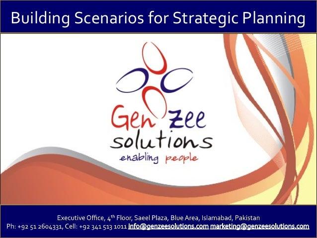Building Scenarios for Strategic Planning