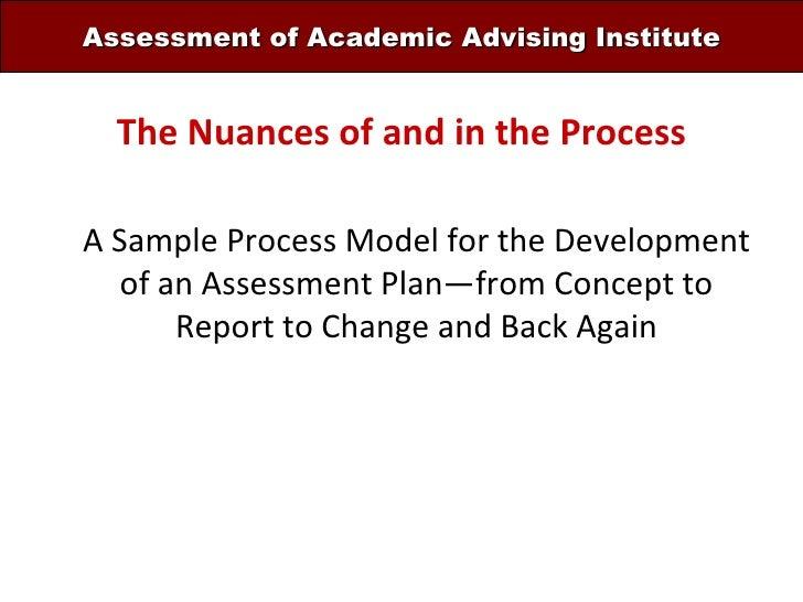 Handout For Plenary I Sample Process Model