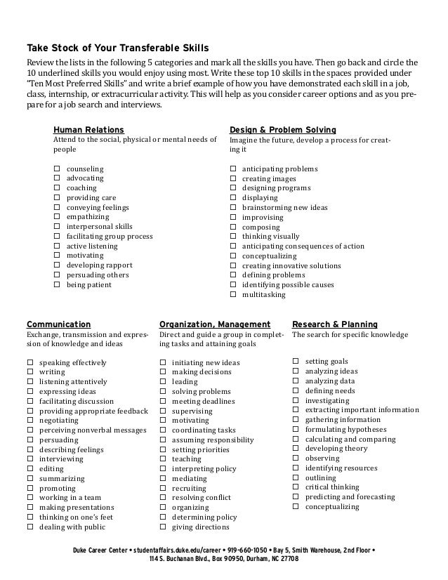 list of job skills for resume - Roberto.mattni.co