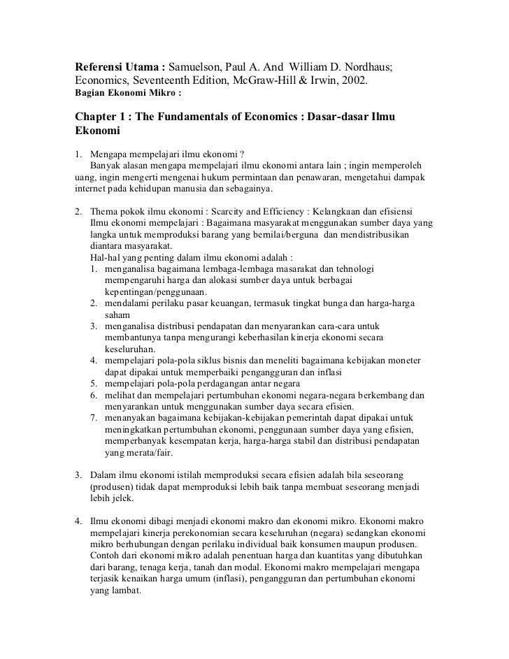 Handout ekonomi mikro1