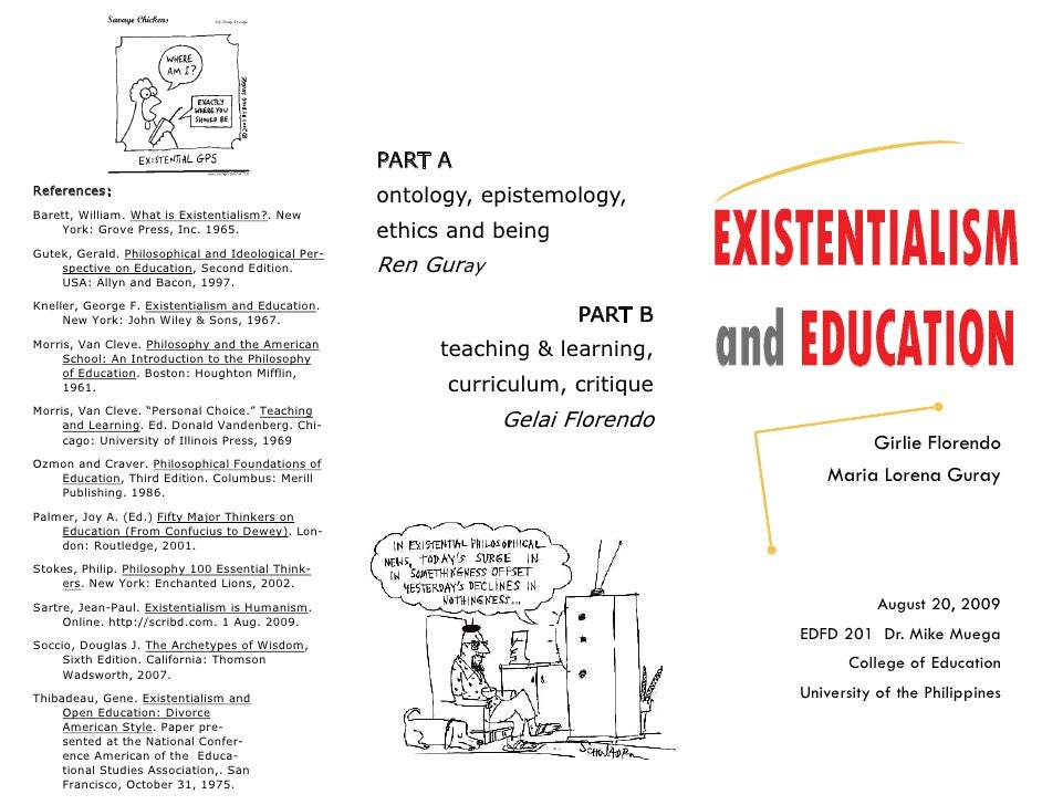 Existentialism and Education Part A