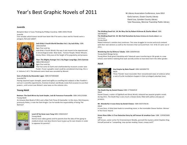 Year's Best Graphic Novels of 2011                                                                                        ...