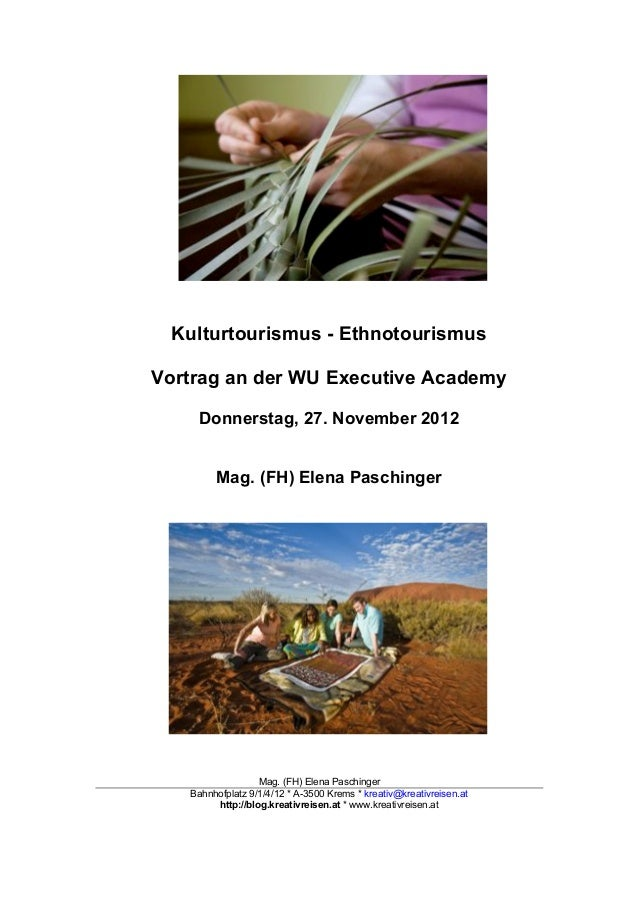 Handout Kultur & Tourismus 2012