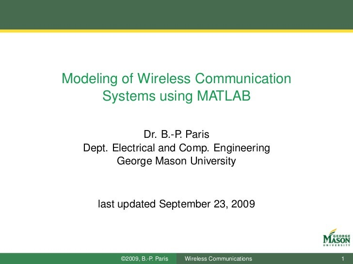 Simulation of Wireless Communication Systems