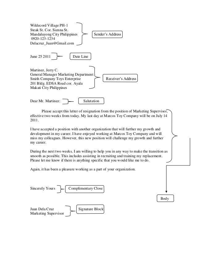 Sample Resignation Letter Student Council