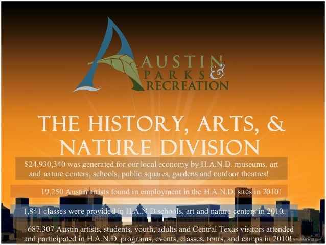 THE HISTORY, ARTS, &     NATURE DIVISION$24,930,340 was generated for our local economy by H.A.N.D. museums, art and natur...