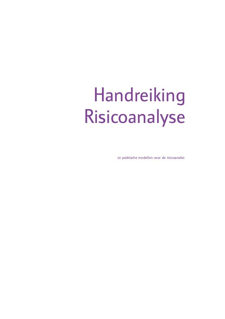 Handreiking   Risicoanalyse