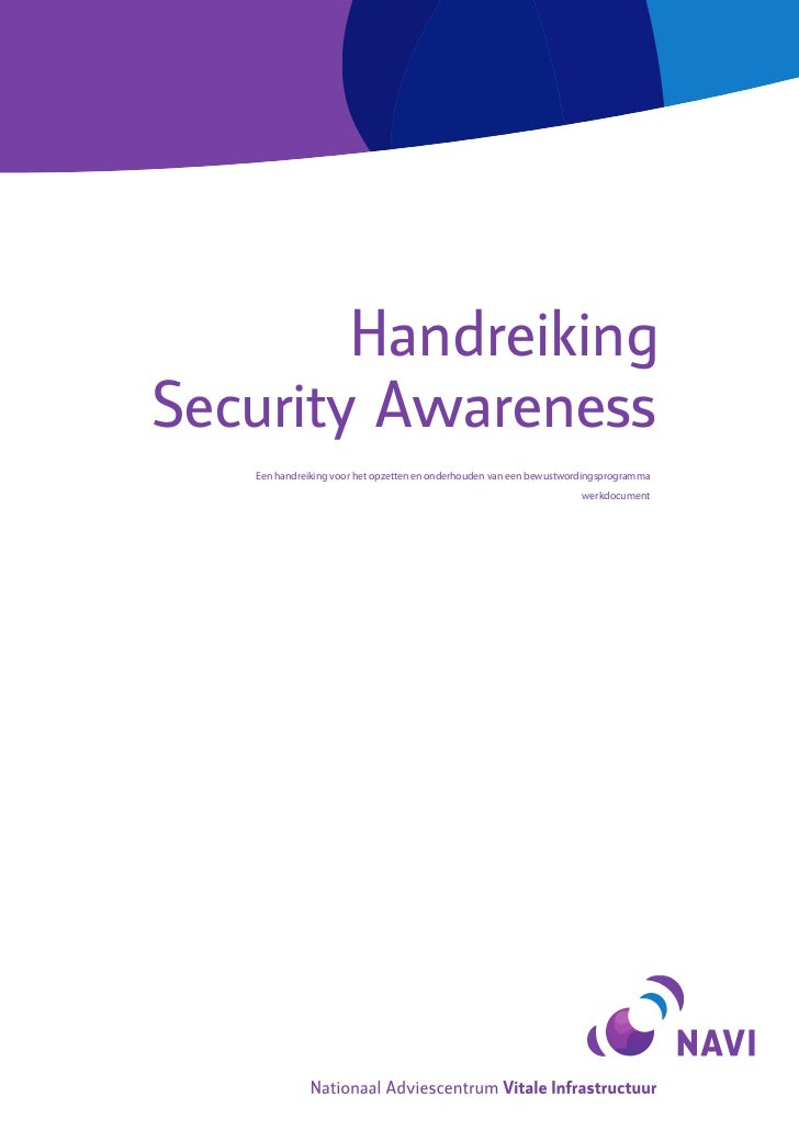 Handreiking - Security Awareness (Concept)