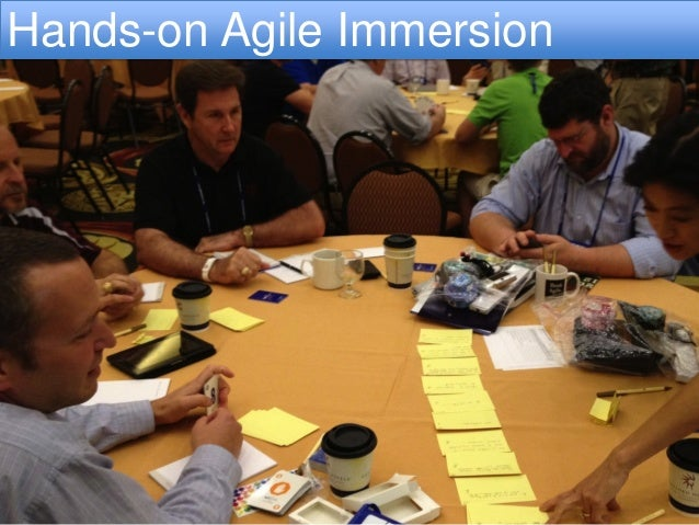 Agile Whole Team TrainingHands-on Agile Immersion        http://www.gettyimages.com/detail/photo/three-young-men-and-two-y...