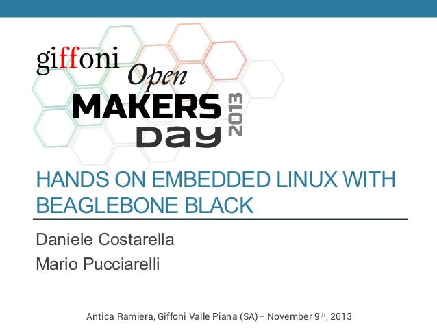 Hands on Embedded Linux with BeagleBone Black