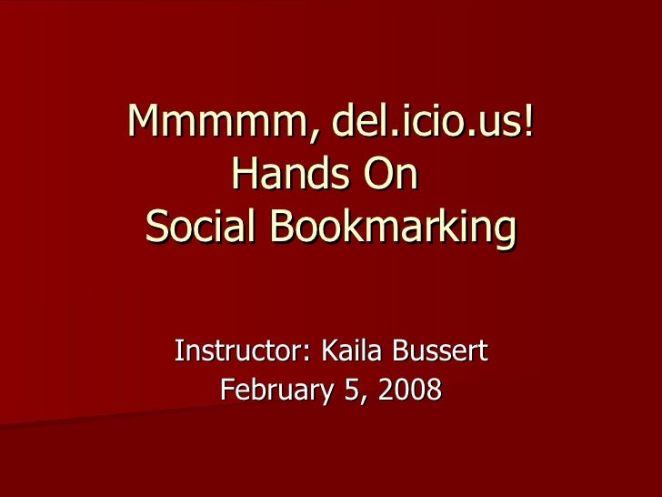 Hands On Social Bookmarking