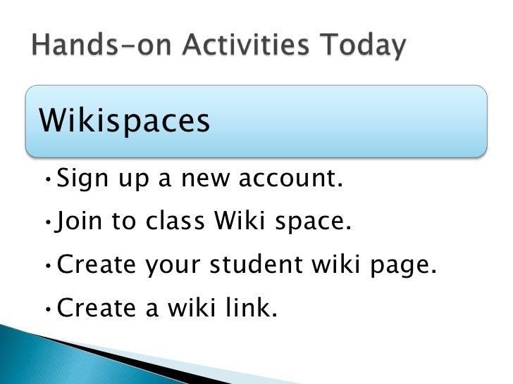 Hands-on Activities Today<br />