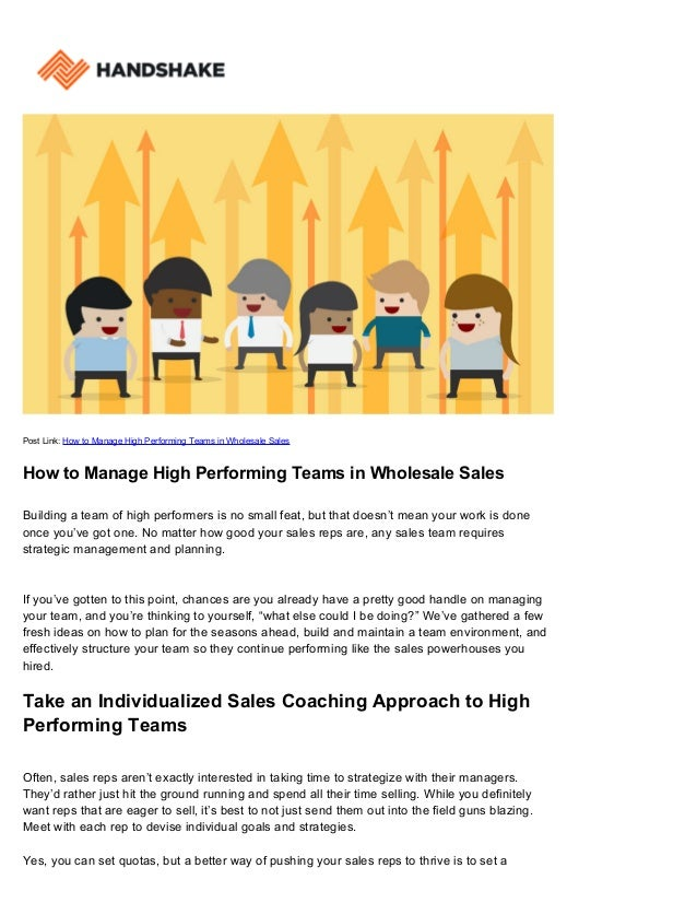 how to develop a high performing team