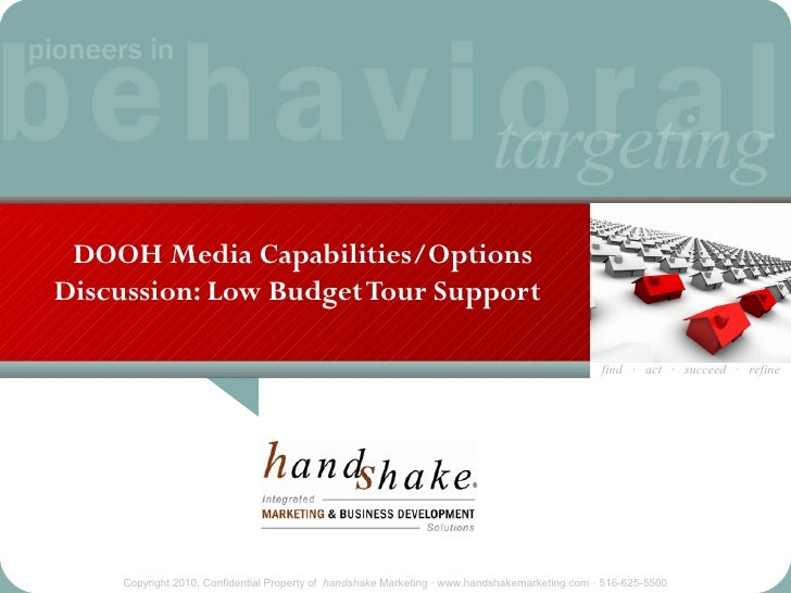 DOOH Media Capabilities/Options Discussion: Low Budget Tour Support                                                       ...
