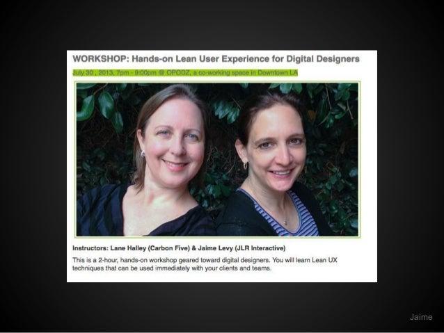 Hands-on Lean UX for Digital Designers