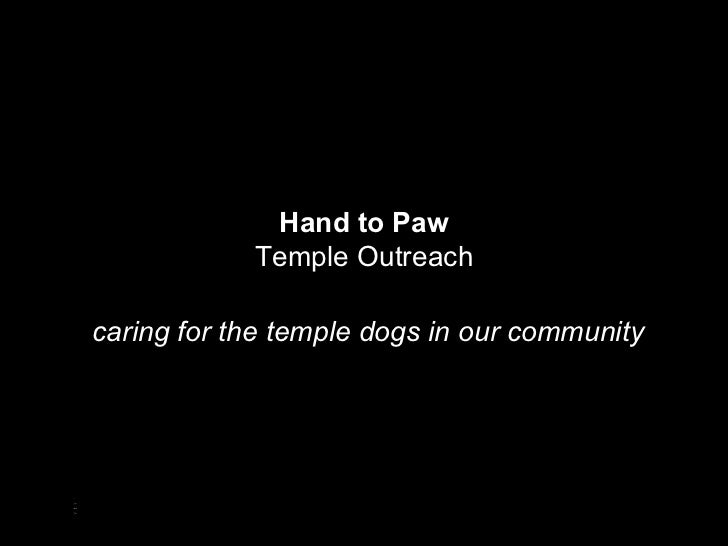 Hand to Paw Temple Outreach
