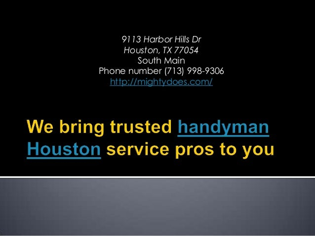 9113 Harbor Hills Dr Houston, TX 77054 South Main Phone number (713) 998-9306 http://mightydoes.com/