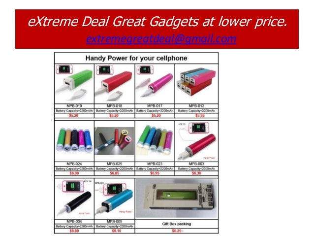 eXtreme Deal Great Gadgets at lower price.         extremegreatdeal@gmail.com