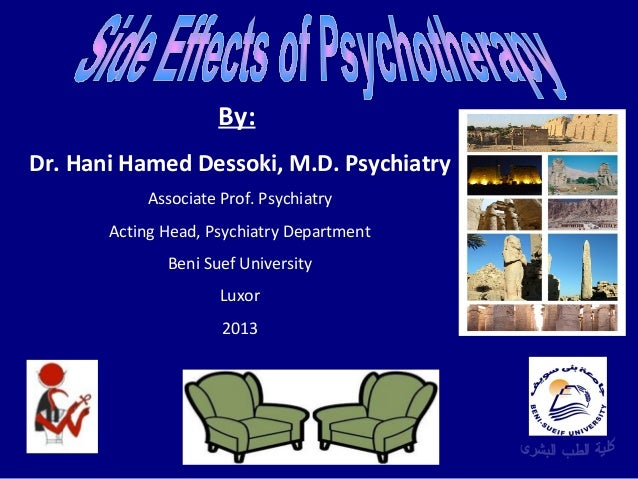 Hani hamed dessoki, side effects of psychotherapy
