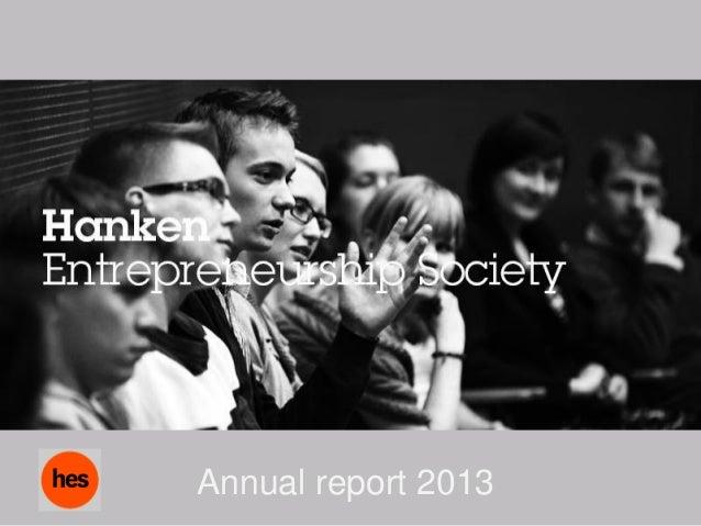 Hankenes annual report 2013