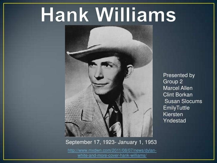 Hank williams powerpoint presentation