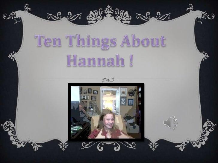 Hannah Top 10