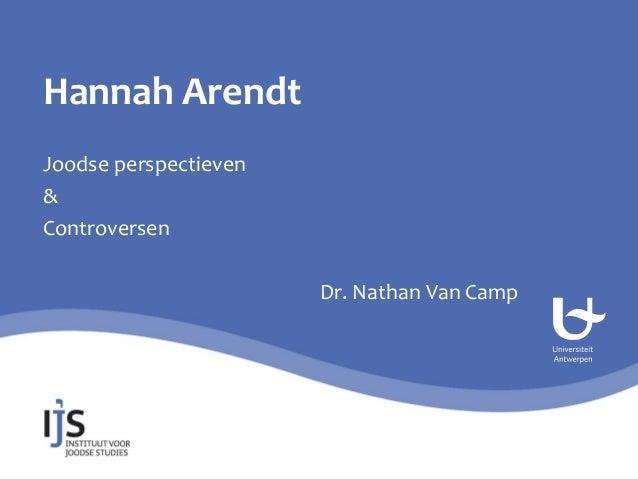 Hannah Arendt: Joodse perspectieven en controversen
