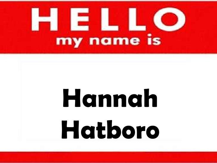 Hannah hatboro