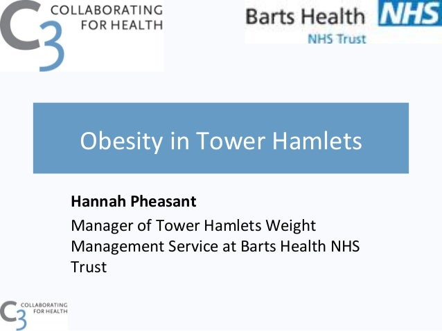 Obesity in Tower Hamlets Hannah Pheasant Manager of Tower Hamlets Weight Management Service at ...