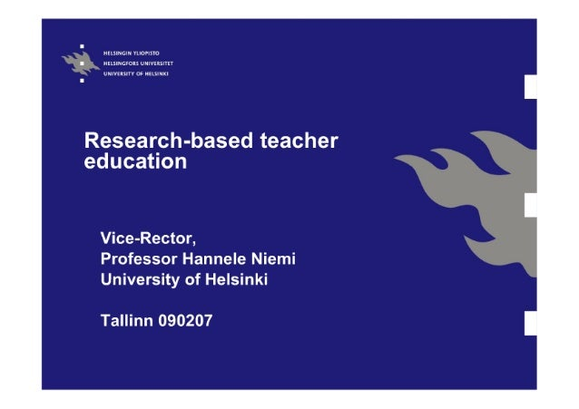 Research-based teacher education