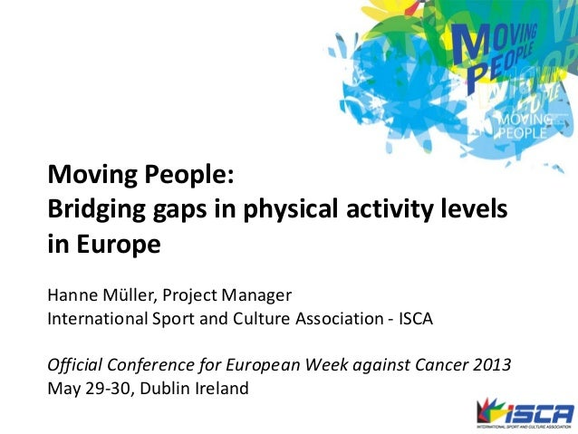 Moving People:Bridging gaps in physical activity levelsin EuropeHanne Müller, Project ManagerInternational Sport and Cultu...