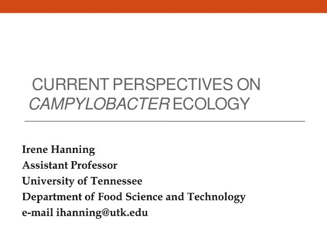 CURRENT PERSPECTIVES ON CAMPYLOBACTER ECOLOGY