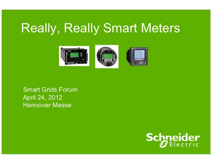 Really, Really Smart MetersSmart Grids ForumApril 24, 2012Hannover Messe