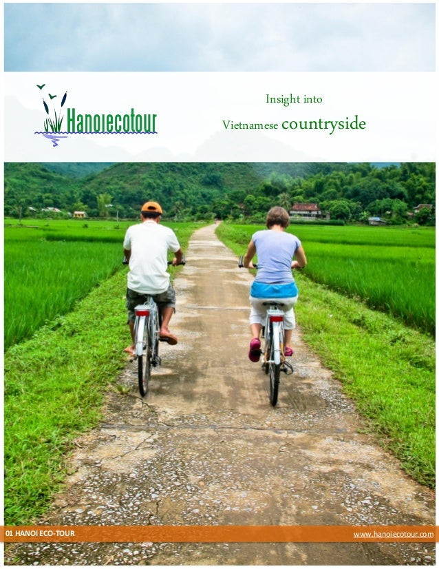 Hanoi eco tour's brochure