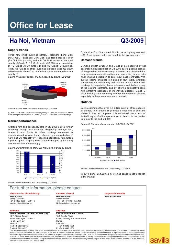 Savills - Ha Noi Market Brief Q3 2009 ENG