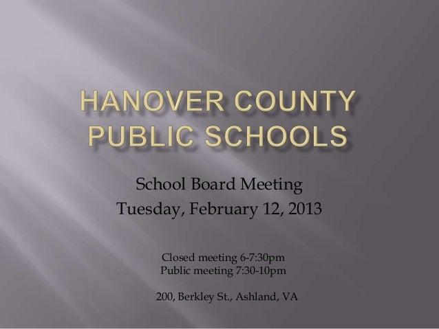 Hanover County Public Schools-SBM