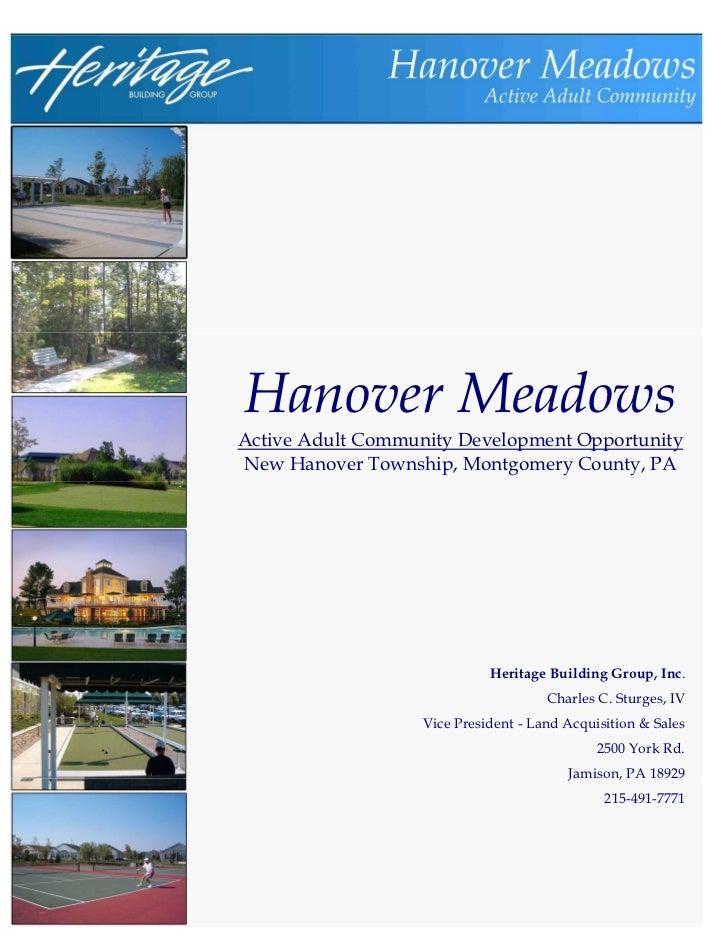 Hanover Meadows Offering Memorandum 2