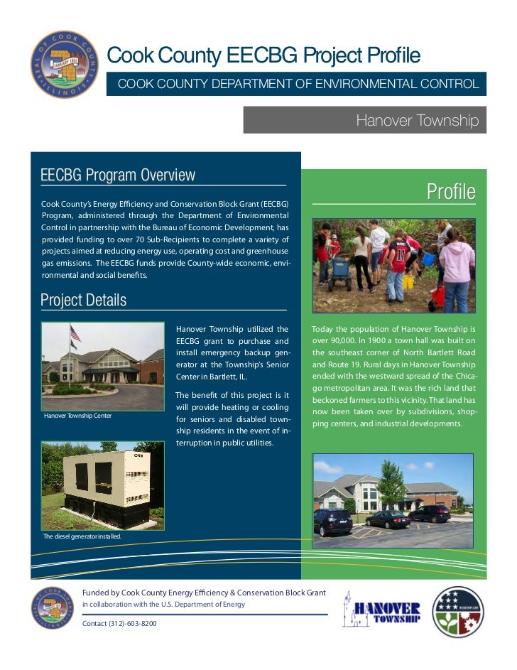 Cook County/Hanover Township EECBG Project Profile