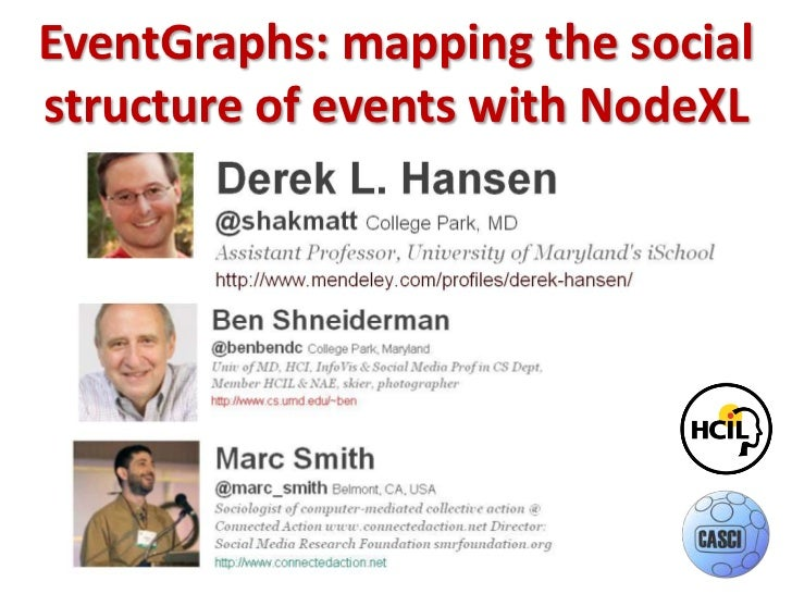 EventGraphs: mapping the social structure of events with NodeXL<br />