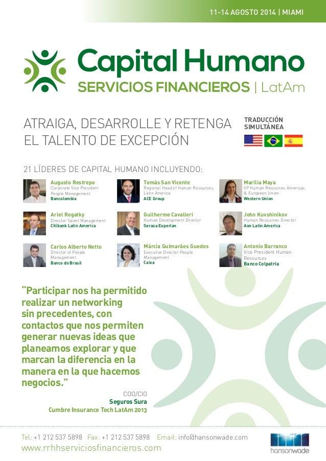 La Cumbre de Capital Humano para Servicios Financieros LatAm