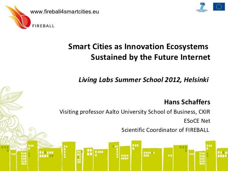 Hans schaffers smartcities