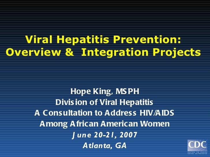 Hapatitis overview