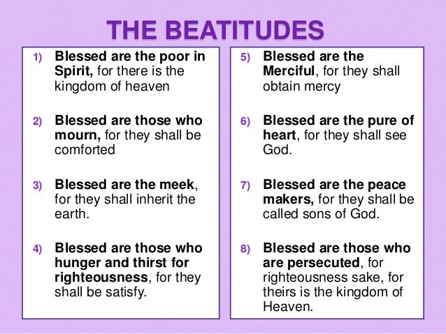 8 beatitudes catholic explanation
