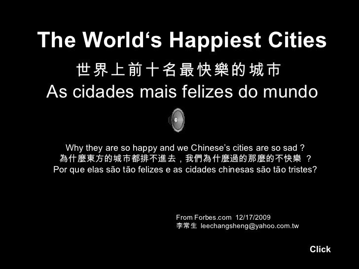 Happiest Cities