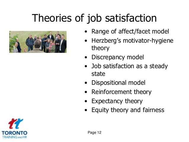 the facet model of job satisfaction theory Personality according to the authors of five factor model of personality and job satisfaction, five personality characteristics have a major impact on job satisfaction.