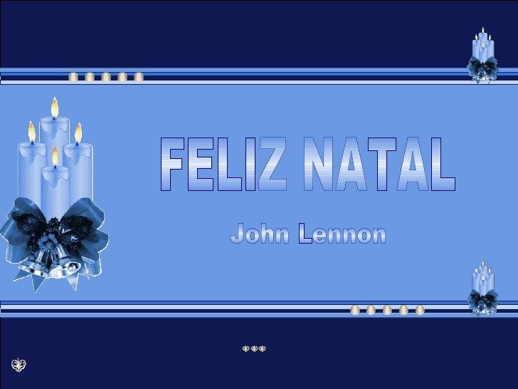 FELIZ NATAL John Lennon